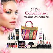 19 Pcs Colordivine Makeup Dhamaka Kit