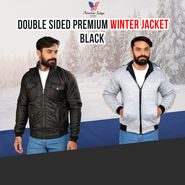 American Indigo Double Sided Premium Winter Jacket - Black