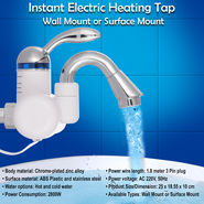 Instant Electric Heating Tap - Wall Mount or Surface Mount