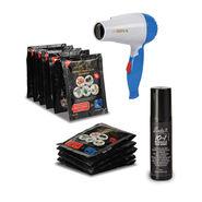 Looks21 Instant Hair Colour Shampoo & 10-in-1 Hair Spray with Free Hair Dryer