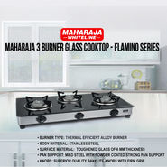 Maharaja 3 Burner Glass Cooktop - Flamino Series