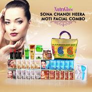 Nutriglow Sona Chandi Heera Moti Facial Combo