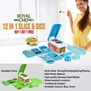 Royal Chef 12 in 1 Slice & Dice - Buy 1 Get 1 Free