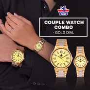 Scottish Club Couple Watch Combo - Gold Dial