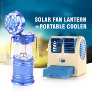 Solar Fan Lantern + Portable Cooler