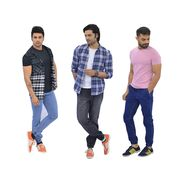 Mr. Tusker Pack of 3 Elasticated Denim Jogger (MT7)