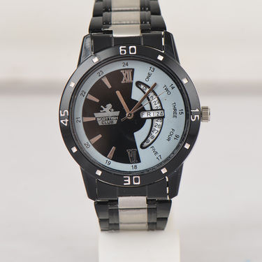 2 Men's Gold + Black Watches (Dual Tone)