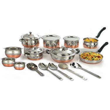 20 Pcs Copper Coated Cook & Serve Set
