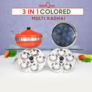 3 in 1 Colored Multi Kadhai