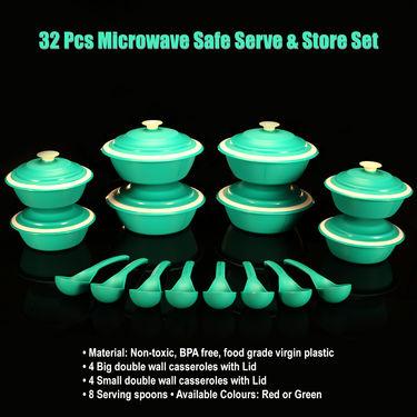 32 Pcs Microwave Safe Serve & Store Set