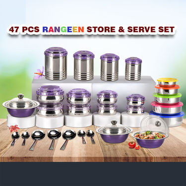 47 Pcs Rangeen Store & Serve Set