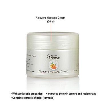 Arkaya Aloe Vera Facial Kit with 6-in-1 Massager