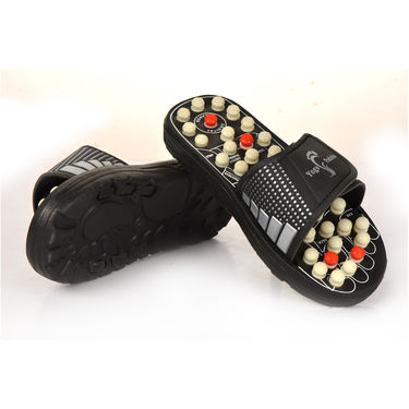 Acupressure Yoga Slippers with Set of 2 Acupressure Magnetic Balls