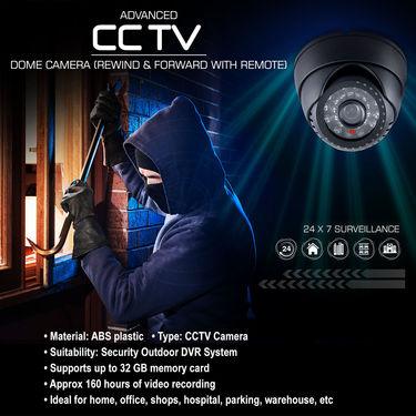 Advanced CCTV Dome Camera (Rewind & Forward with Remote)