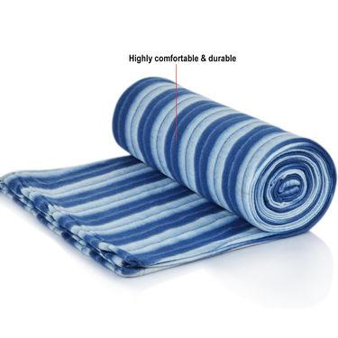 Set of 5 Cabana Stripes Fleece Blankets