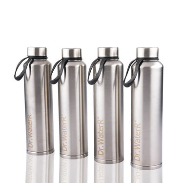 Dr.WaterR Pack of 4 Stainless Steel Bottles