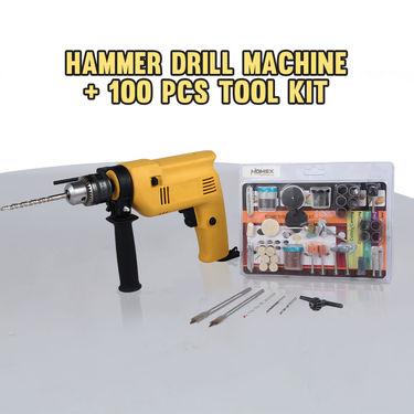 Hammer Drill Machine + 100 Pcs Tool Kit