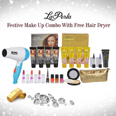 La Perla Festive Make Up Combo with Free Hair Dryer