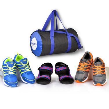 Liberty 2 Sports Shoes + Multipurpose Bag + 1 Sandal