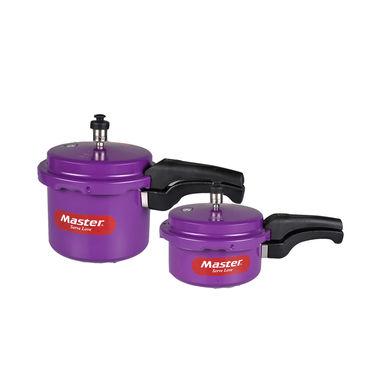 Master 3 Ltr Colour Pressure Cooker + 2 Ltr Colour Pressure Pan