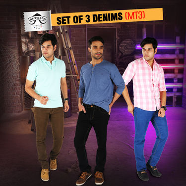 Mr. Tusker Set of 3 Denims (MT3)