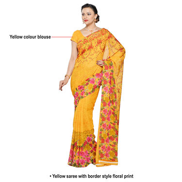 Namita Collection of Printed Georgette Sarees - Buy 4 And Get 3 Free