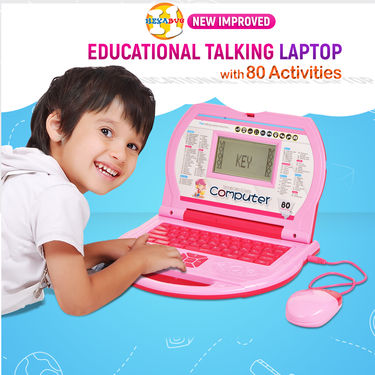 New Improved Educational Talking Laptop with 80 Activities
