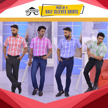 Pack of 4 Half Sleeves Shirts (4HS1)