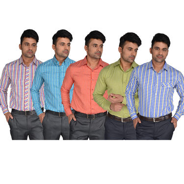 Pack of 5 Shirts + 2 Pant Piece Ready to Stitch Material (5S2T) - Assorted