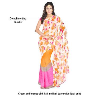 Prakriti Pack of 9 Printed Georgette Sarees (9G4)