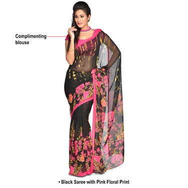 Radhika Pack of 4 Printed Georgette Sarees (7G27A)