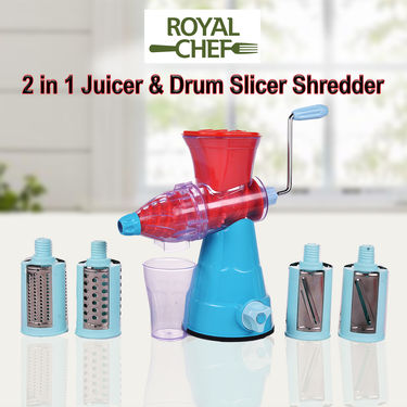Royal Chef 2 in 1 Juicer & Drum Slicer Shredder