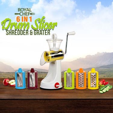 Royal Chef 6 in 1 Drum Slicer, Shredder & Grater