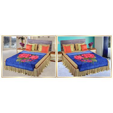Set of 2 Mink Blankets - Blue
