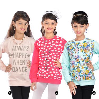 Set of 3 Sweatshirts for Girls