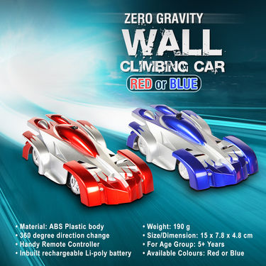 Zero Gravity Wall Climbing Car - Red or Blue