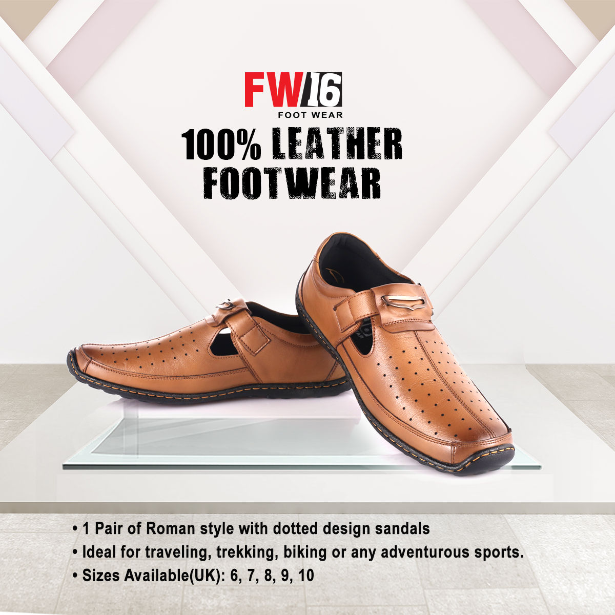 3f4160b38c170 Buy FW16 100% Leather Footwear Online at Best Price in India on Naaptol.com