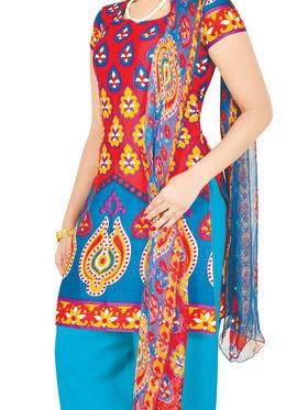 Manasvi Printed Dress Material - Set of 7