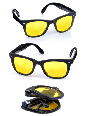 Scottish Club 3 Day & Night Vision Folding Glasses with Cover